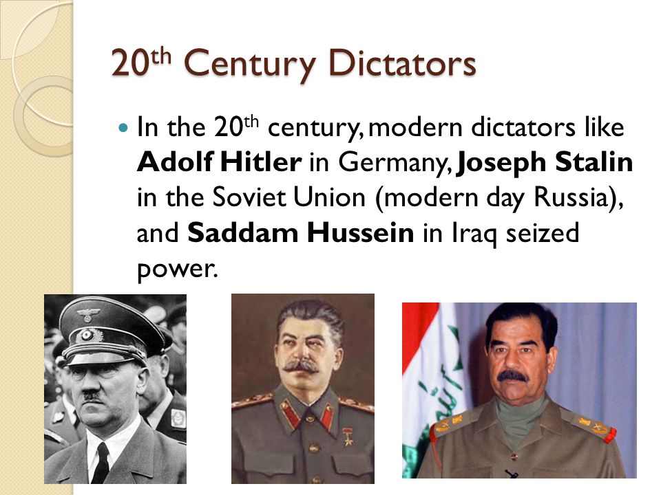 20th Century Dictators