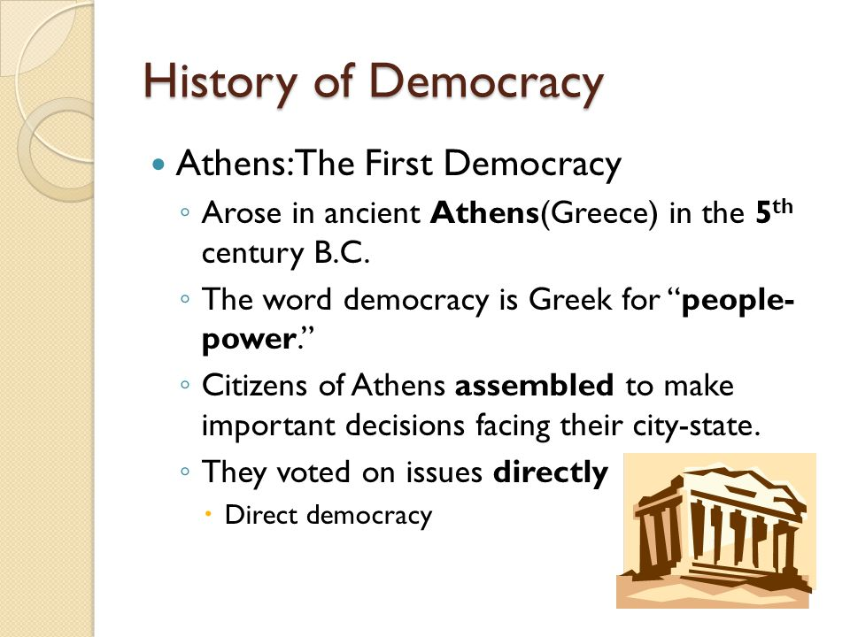 History of Democracy Athens: The First Democracy
