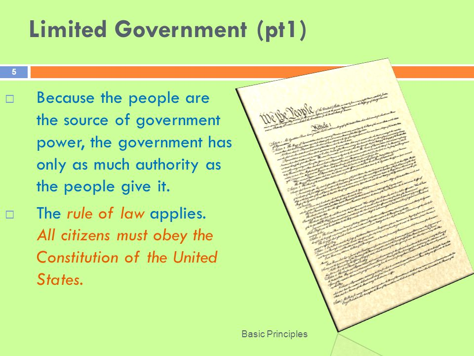 Limited Government (pt1)