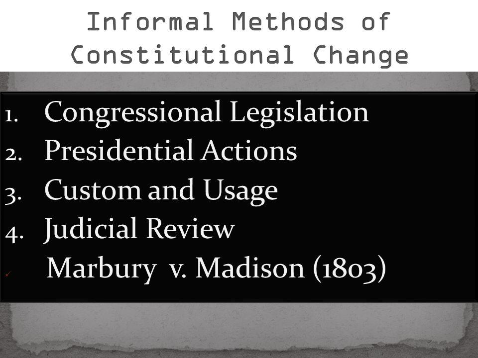 Informal Methods of Constitutional Change