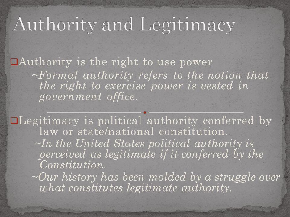 Authority and Legitimacy