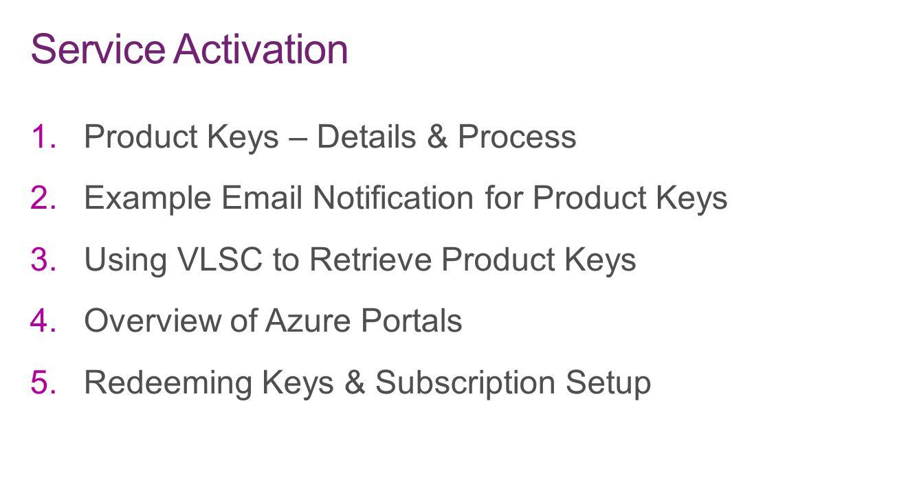 Service Activation Product Keys – Details & Process