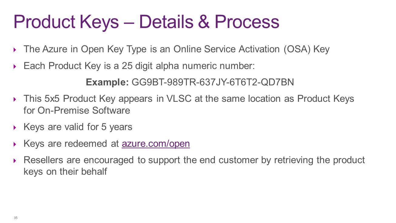 Product Keys – Details & Process