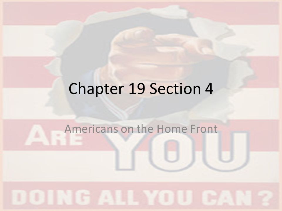 Chapter 19 section 3 the war at home outline picture.