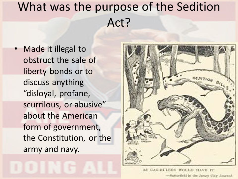 What was the purpose of the Sedition Act