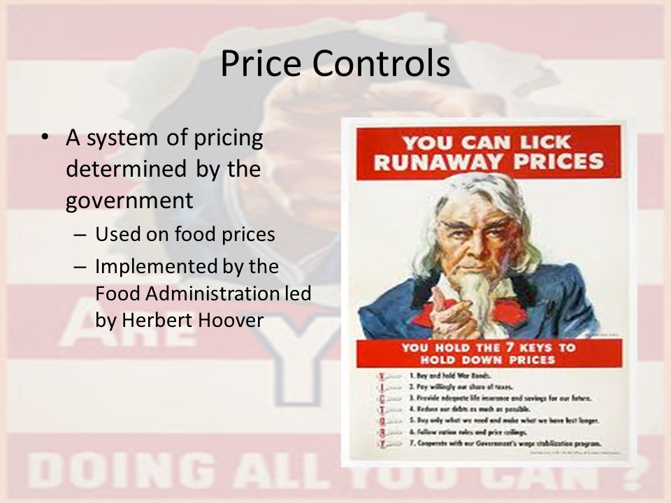 Price Controls A system of pricing determined by the government
