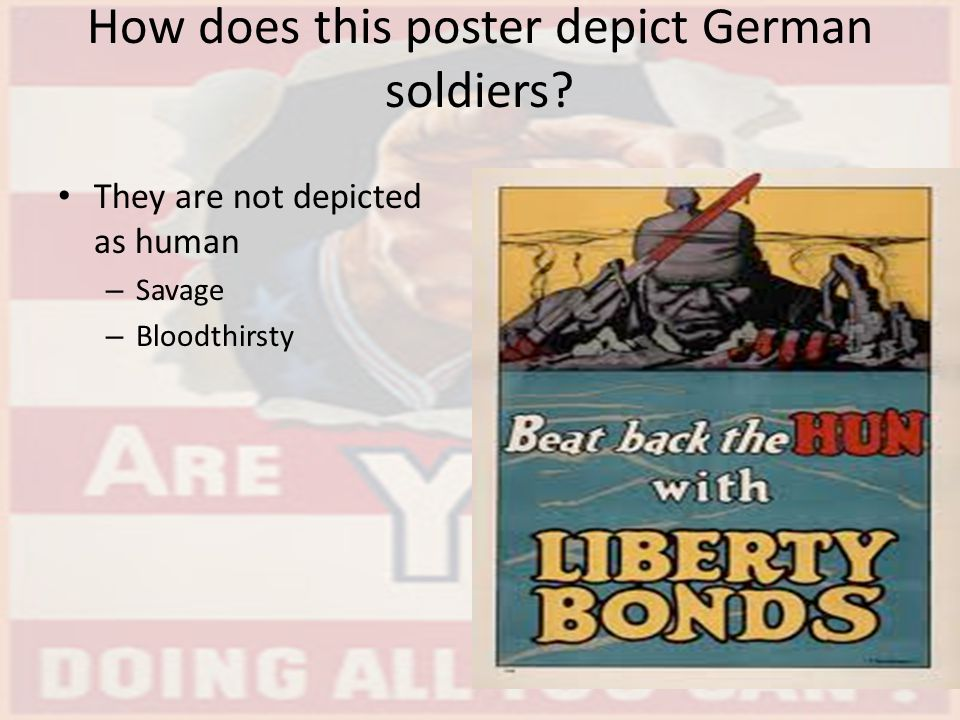 How does this poster depict German soldiers