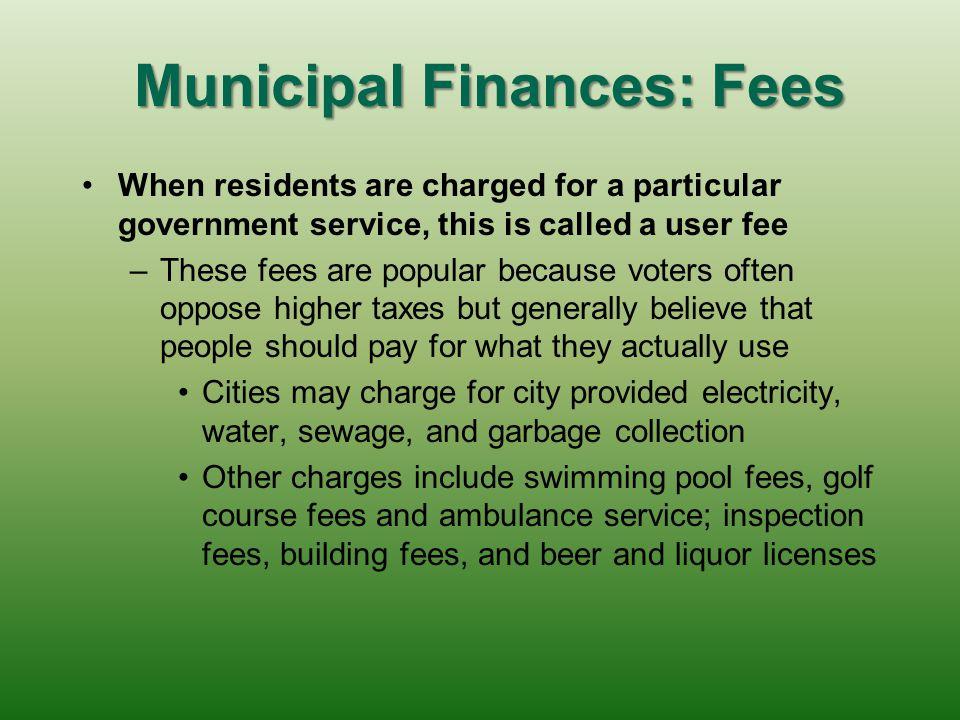 Municipal Finances: Fees