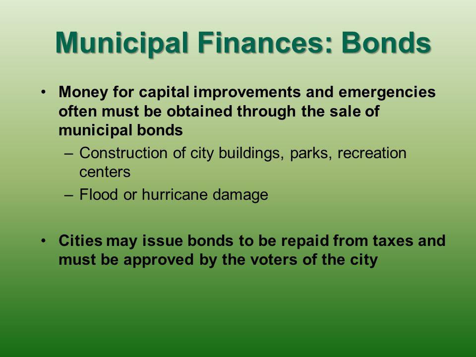 Municipal Finances: Bonds