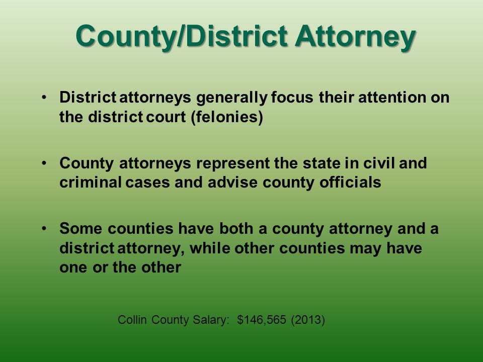 County/District Attorney