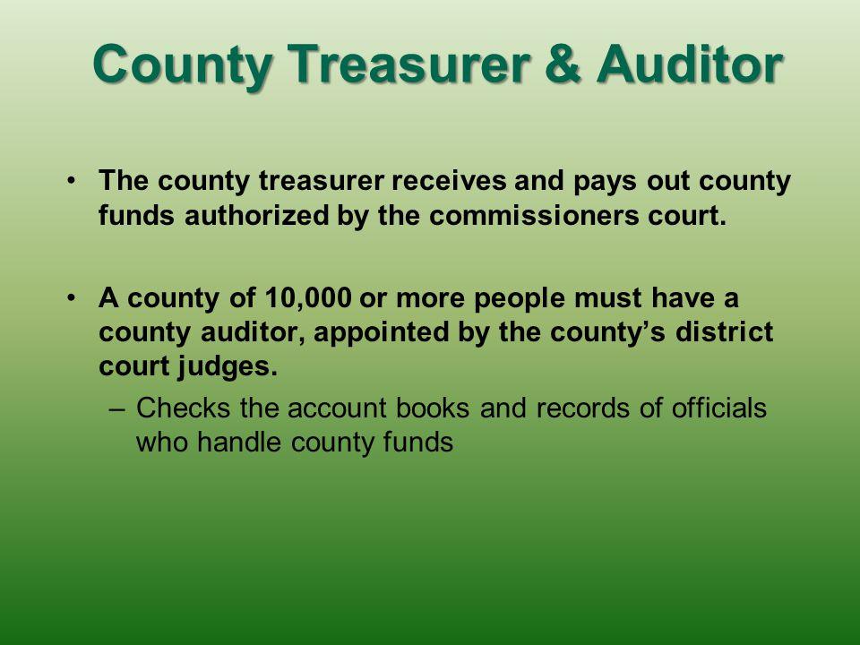 County Treasurer & Auditor