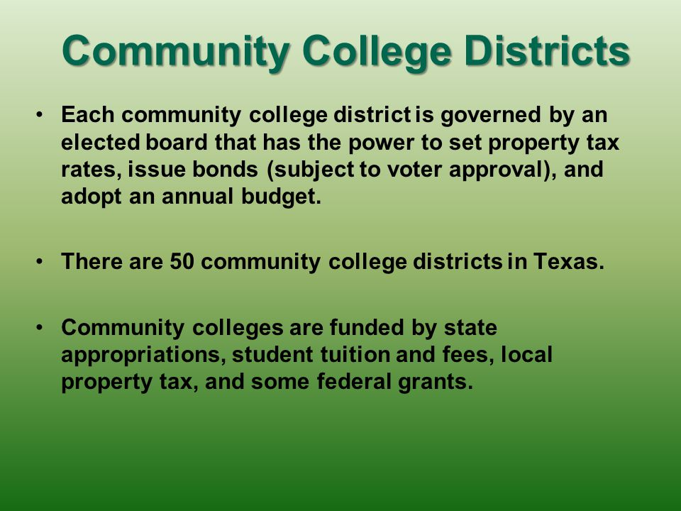 Community College Districts