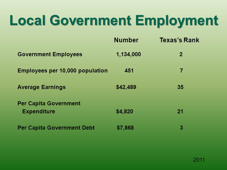 Local Government Employment