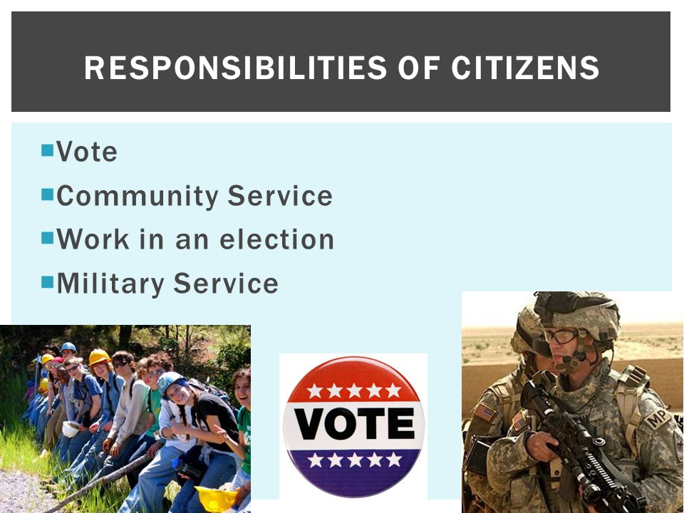 Responsibilities of citizens