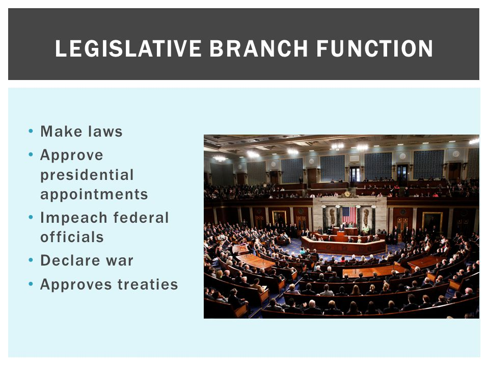Legislative Branch Function