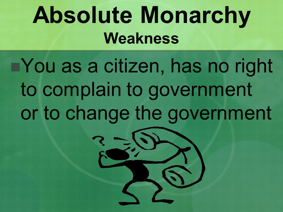 Absolute Monarchy Weakness