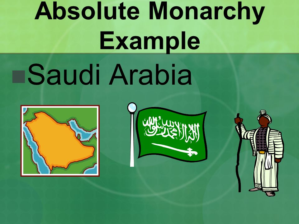 Absolute Monarchy Example