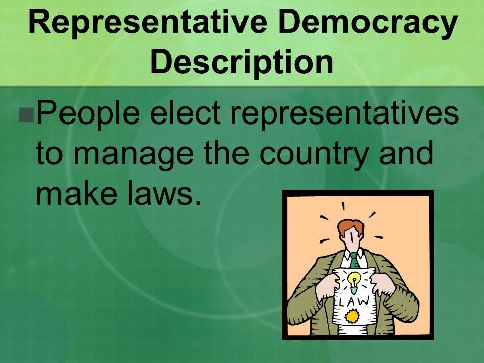 Representative Democracy Description