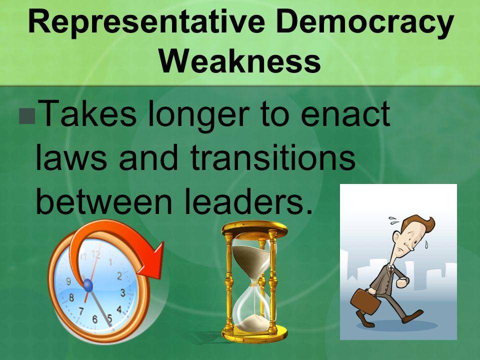 Representative Democracy Weakness