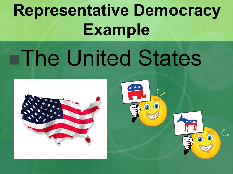Representative Democracy Example