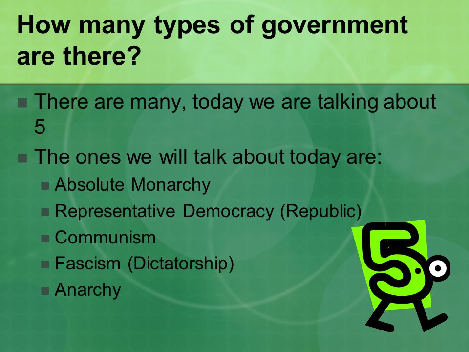 How many types of government are there