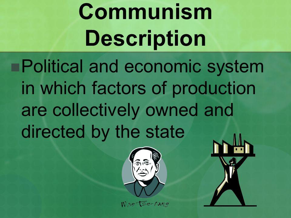 Communism Description