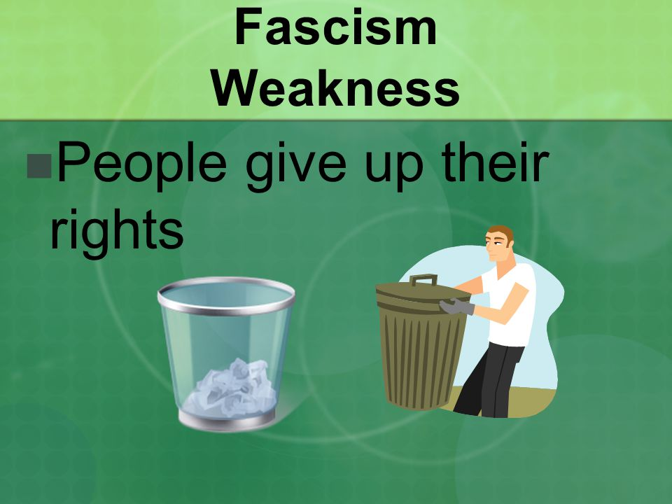 People give up their rights