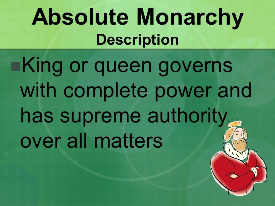 Absolute Monarchy Description