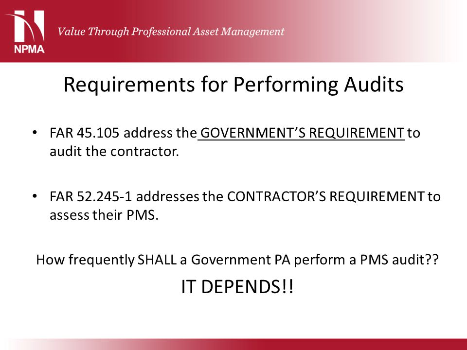 Requirements for Performing Audits