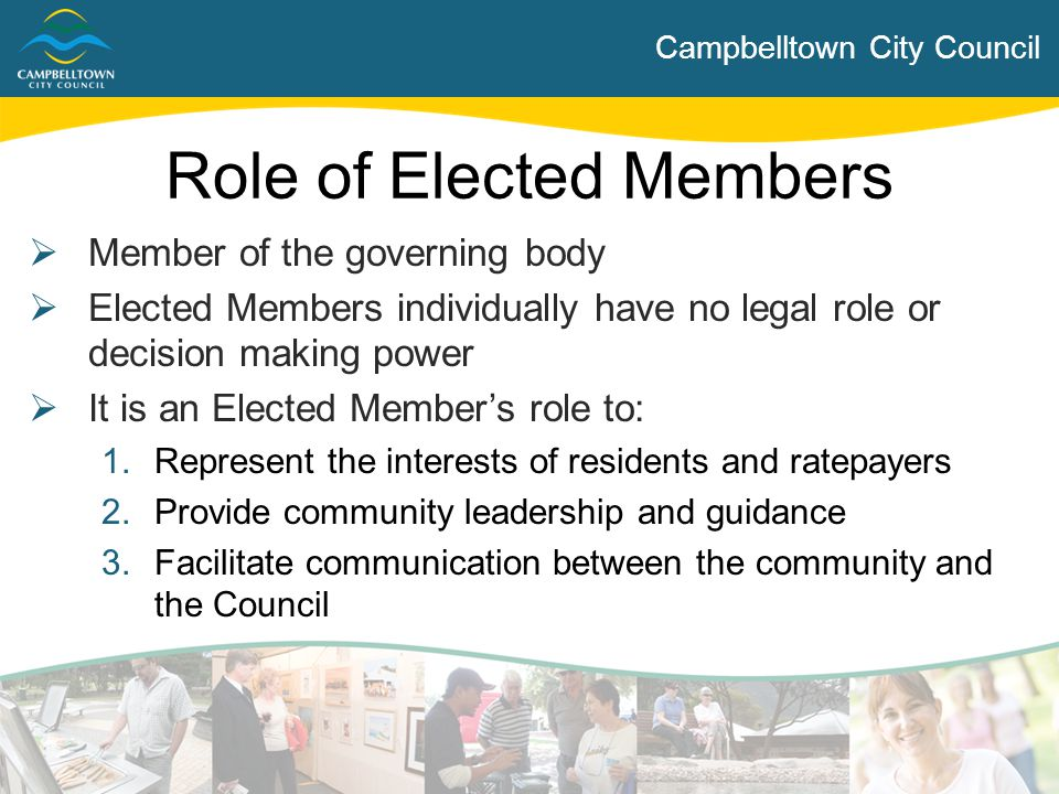 Role of Elected Members