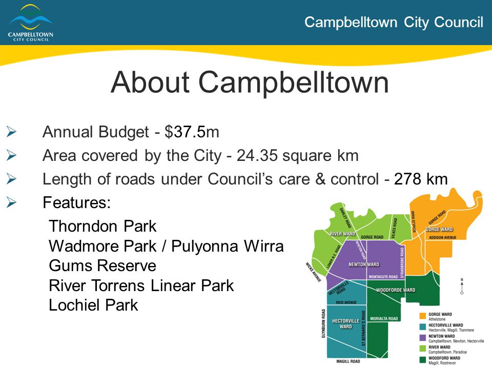 About Campbelltown Annual Budget - $37.5m