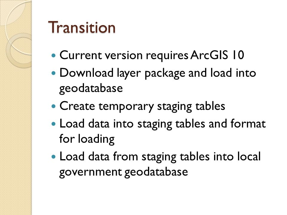 Transition Current version requires ArcGIS 10