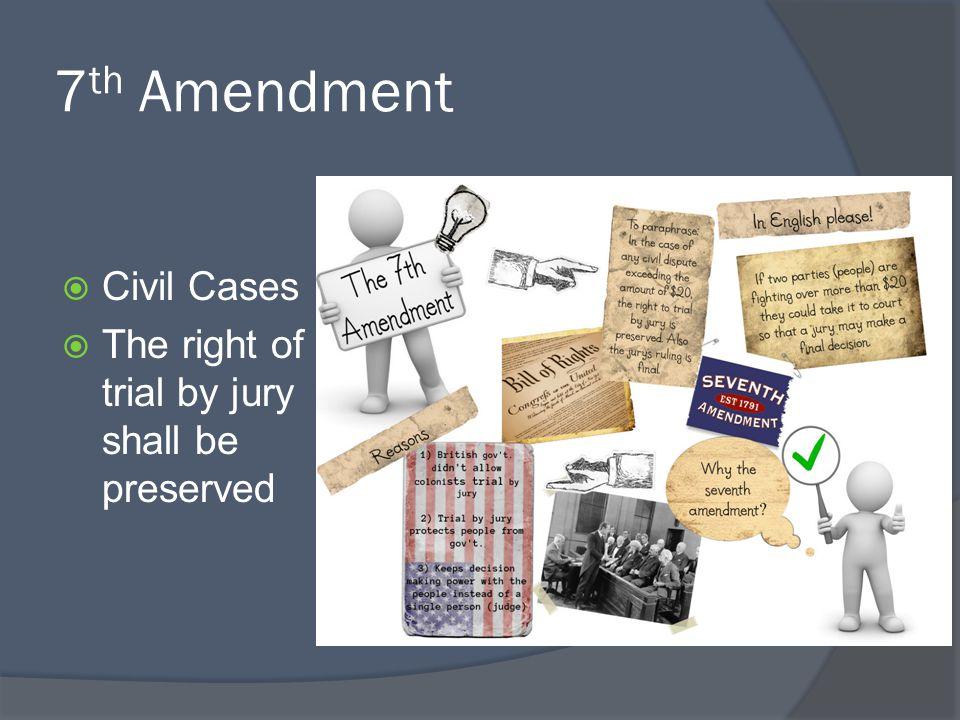 7th Amendment Civil Cases