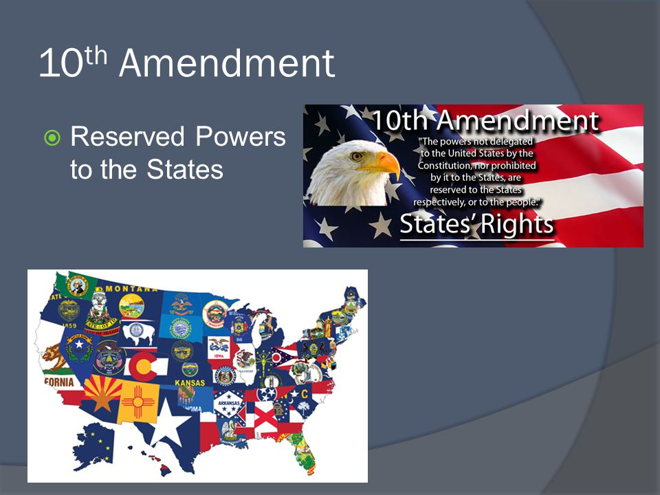 10th Amendment Reserved Powers to the States