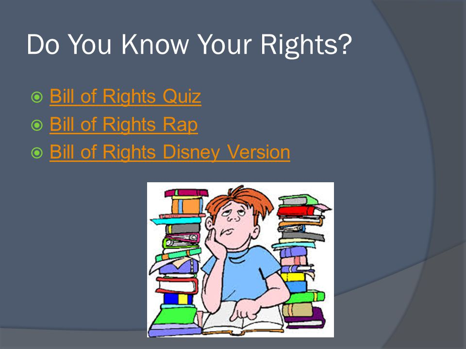 Do You Know Your Rights Bill of Rights Quiz Bill of Rights Rap