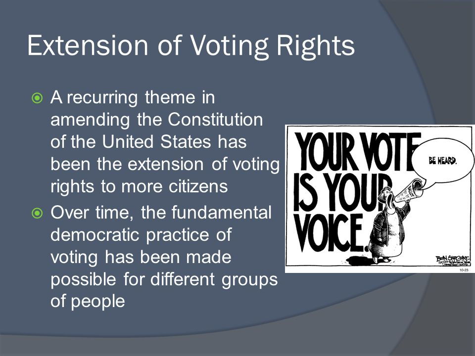 Extension of Voting Rights