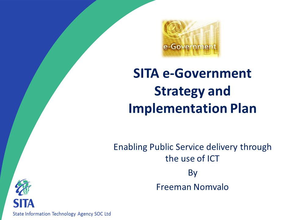 SITA e-Government Strategy and Implementation Plan
