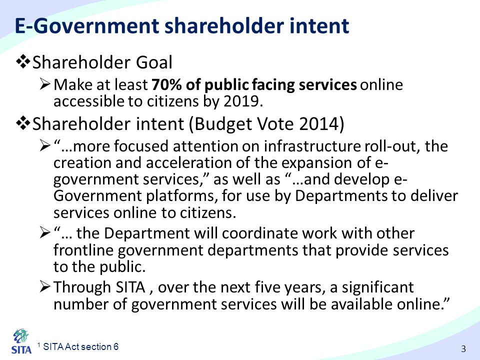 E-Government shareholder intent