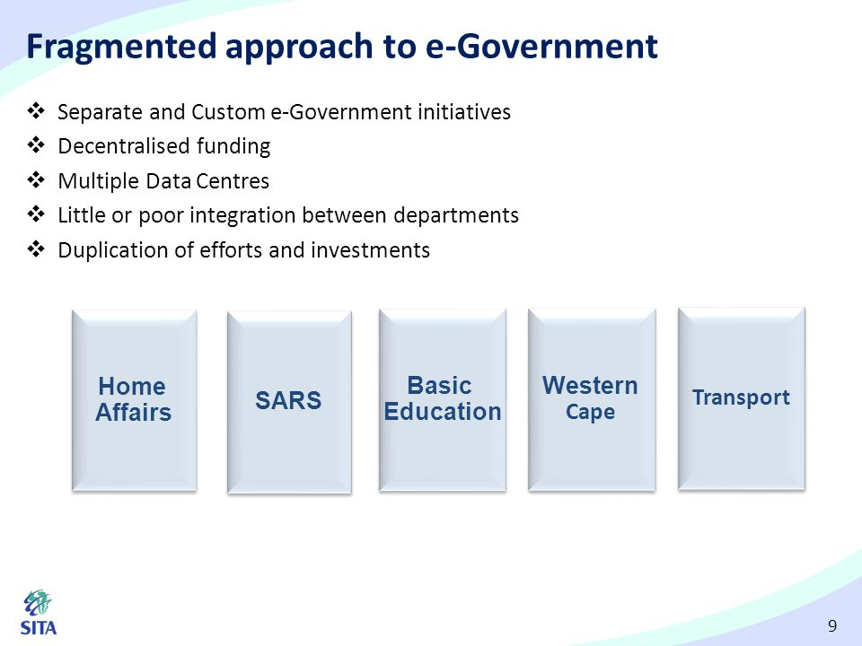 Fragmented approach to e-Government