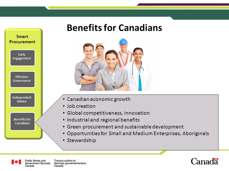 Benefits for Canadians
