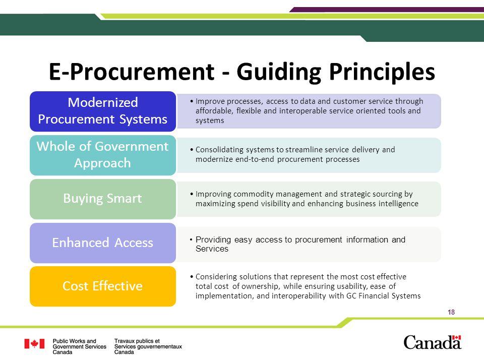 E-Procurement - Guiding Principles