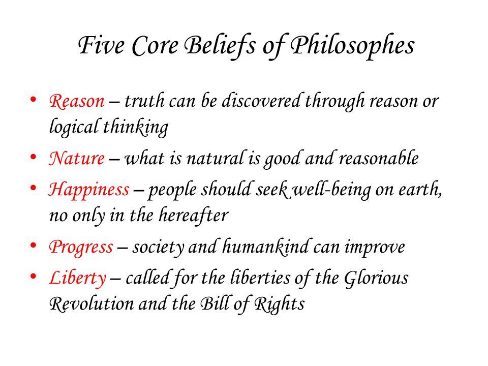 Five Core Beliefs of Philosophes