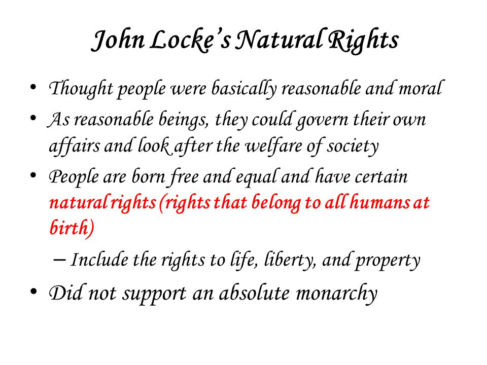 John Locke's Natural Rights