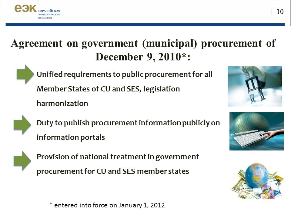 Agreement on government (municipal) procurement of December 9, 2010*: