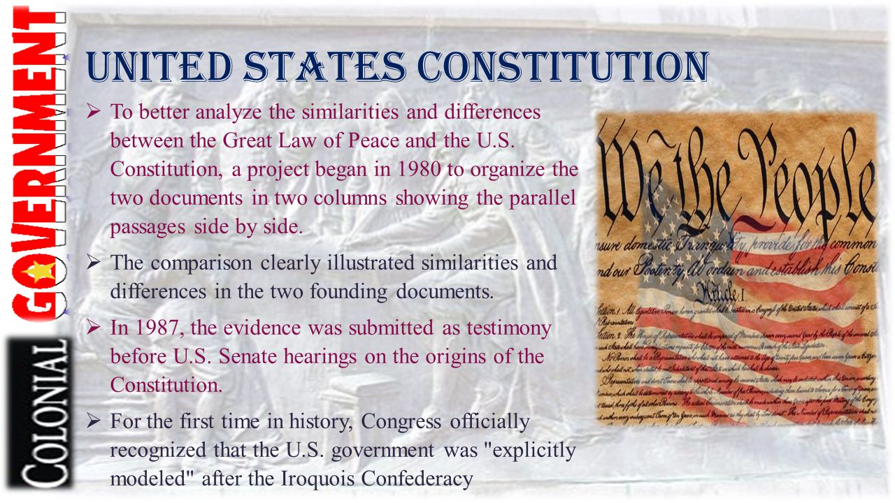 a very brief overview of the constitution in government of the united states The united states constitution was written in 1787 during the philadelphia convention the old congress set the rules the new government followed in terms of writing.