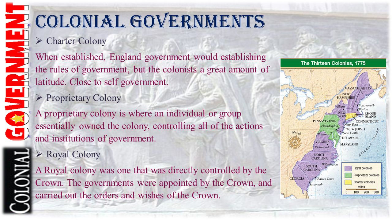 Colonial Governments Charter Colony