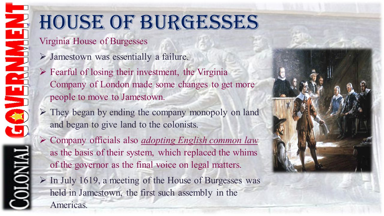 House of Burgesses Virginia House of Burgesses