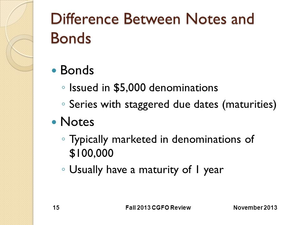 Difference Between Notes and Bonds