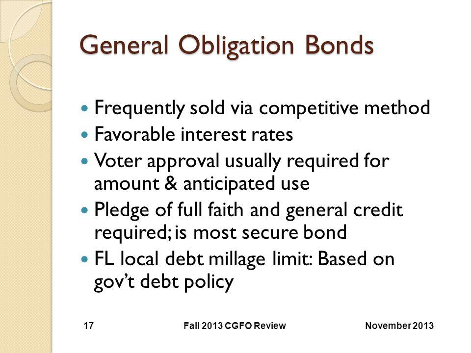 General Obligation Bonds