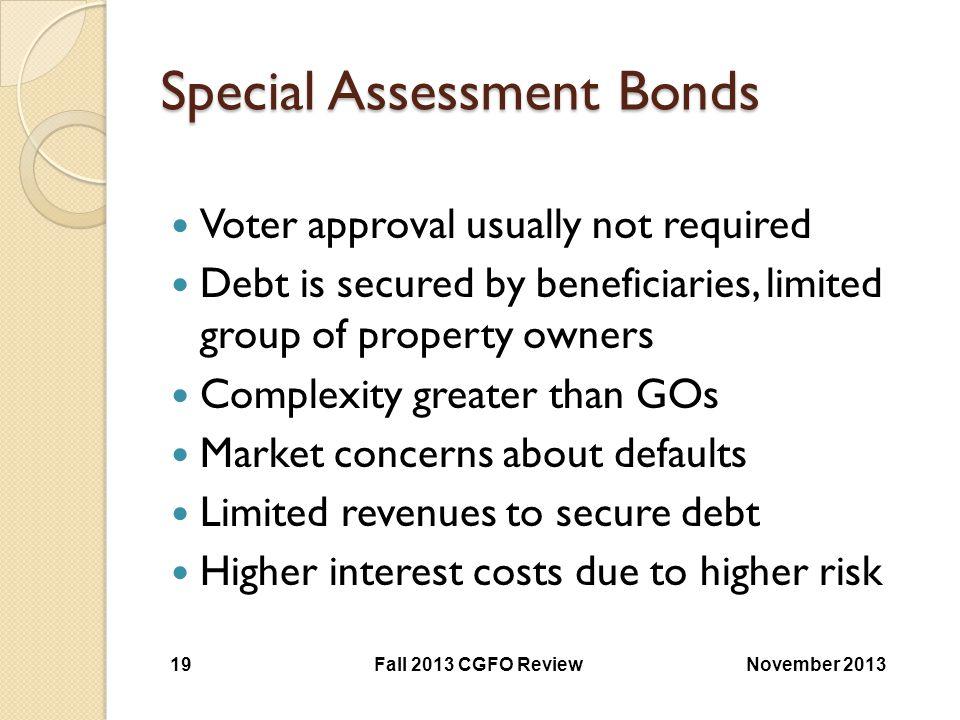 Special Assessment Bonds